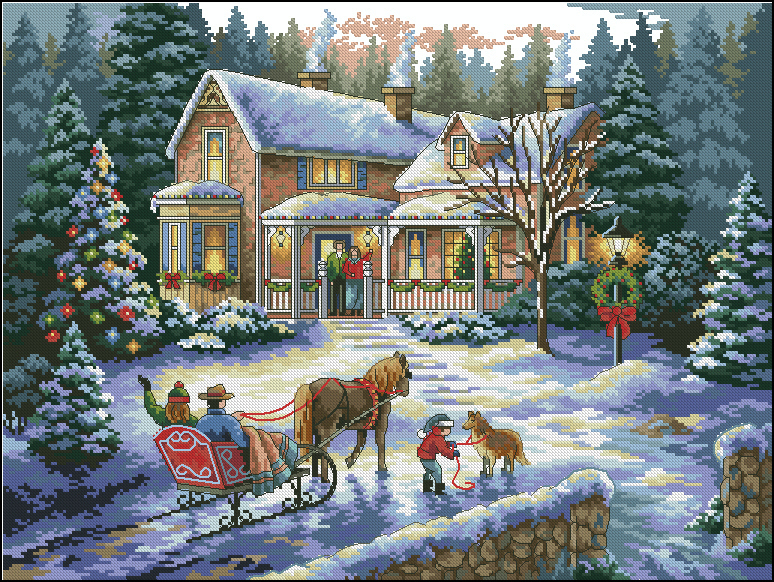 Return for Christmas Landscape
