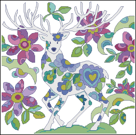 Deer colored
