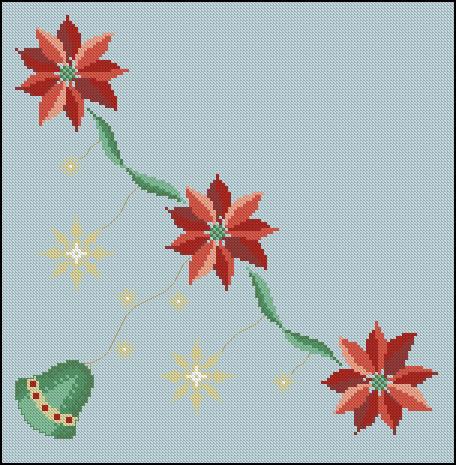 Punto de cruz manteles tattoo design bild - Manteles para navidad ...