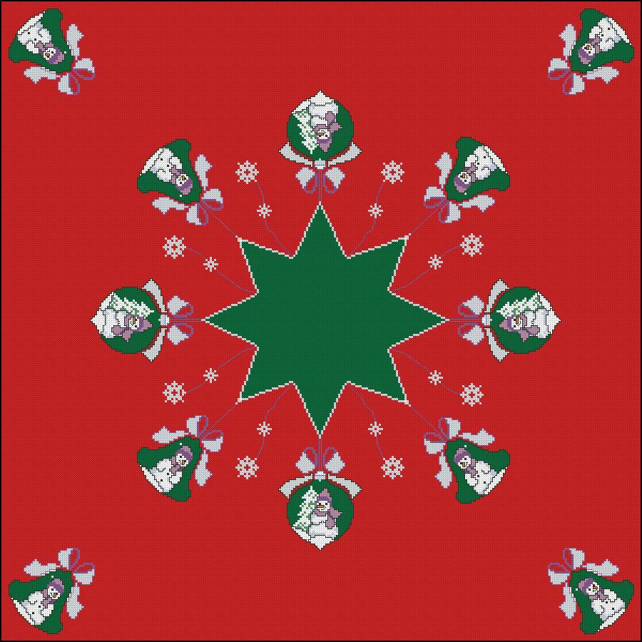 Bordado mantel navidad - Manteles para navidad ...