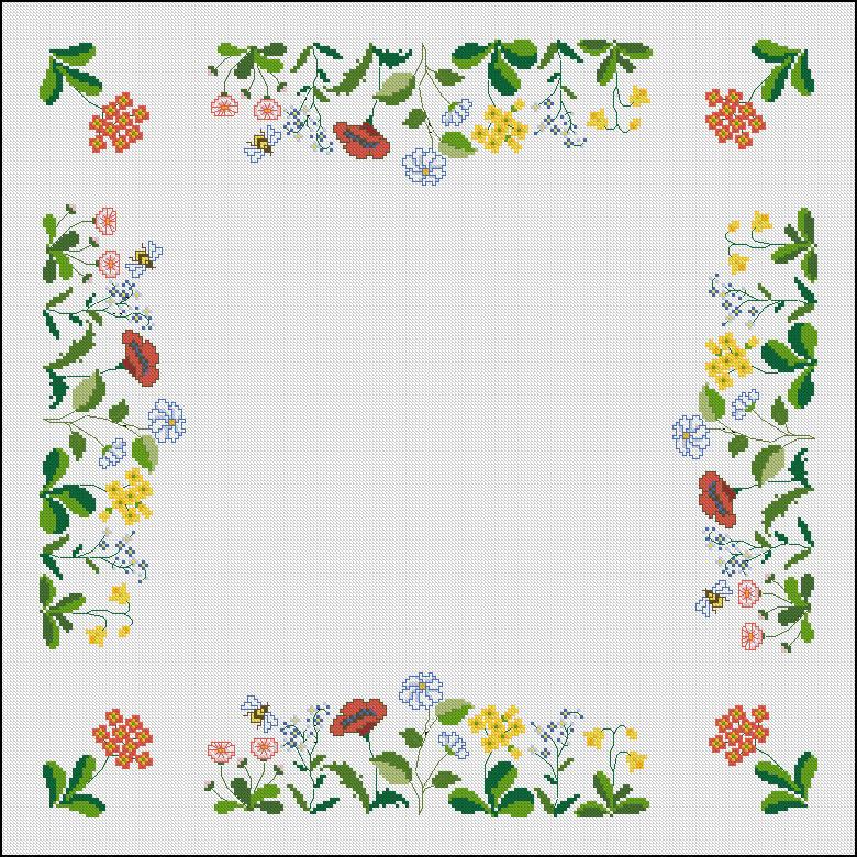Moldes punto de cruz patrones gratis cenefa flores filmvz - Patrones para pintar en tela ...