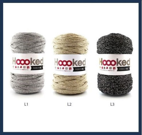Trapillo hooked ribbons lurex