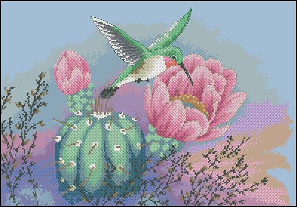Colibrí y néctar - I love punto de cruz, nos gusta crear...